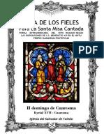II Domingo de Cuaresma. Guía de los fieles para la santa misa cantada. Kyrial XVII
