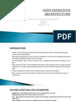 COST EFFECTIVE ARCHITECTURE.pptx