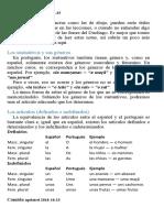 Duolingo, tabla de contenidos, Portugues (es)