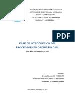 FASE DE INTRODRUCCION DE LA CAUSA (DERECHO PROCESAL CIVIL 1)