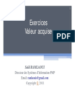 Exercices Valeur Acquise (2)