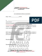 ACTA DE COMPROMISO certificados salud