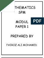 MODUL MATHEMATICS SPM PAPER 1