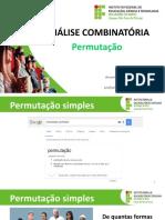 ANALISE_COMBINATORIA_2018_PERMUTACAO