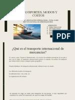Exportaciones Transportes, Modos y Costos