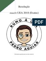 Resolução Macro UEA 2018 - Exatas