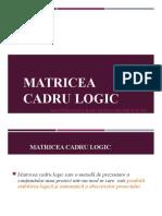 Matricea cadru logic