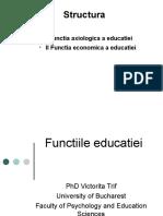 Functiile educatiei
