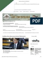 Análise dos discursos de Jair Bolsonaro