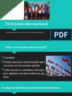 1. NV EL SISTEMA INTERNACIONAL