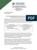 Jasper County Academic/Enrichment After School Program (Spanish)