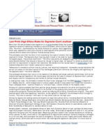11-02-23 Supreme Court Justices Ethics and Recusal Rules – Letter by US Law Professors_BLT