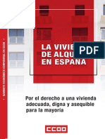 Informe 'Vivienda en alquiler en España' de CCOO
