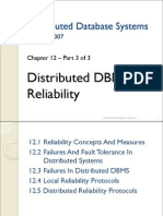 12. Distributed DBMS Reliability - 3 of 3[Good]