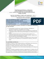 Guia de Actividades y Rubrica de Evaluacion Unidad 1 - Fase 2 - Morfofisiología, Calidad de Agua y Productividad Primaria