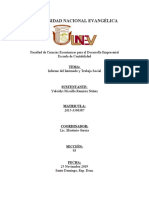Informe del Internado y Trabajo Social