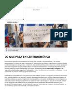 Lo que pasa en Centroamérica - Agenda Pública