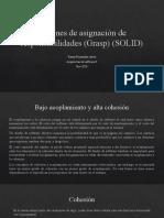 Patrones de asignación de responsabilidades (Grasp)(SOLID)