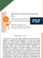 Decreto 1421 de Agosto de 2017