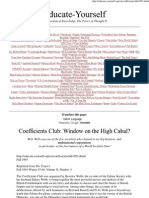 Coefficients Club_ Window on the High Cabal_