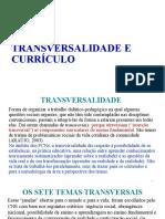 Transversalidade e Currículo