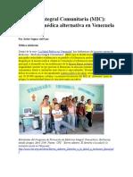 Medicina Integral Comunitaria. educando en ciudadania