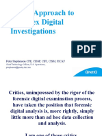 New Approaches to Complex Digital investigation