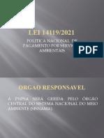 LEI 14119 POLLITICA NACIONAL PAGAMENTO POR SERVIÇOS AMBIENTAIS