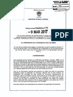 RESOLUCION EJECUTIVA  109 DEL 9 DE MARZO DE 2017