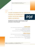 Fatores determinanetes da adocao de sistemas de informação na area de saude (PEP)