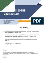EJERCICIOS DE VISCOSIDAD