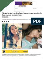 Caso Ana María Castro_ joven implicado en su muerte salió del país _ EL ESPECTADOR