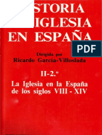 Historia de La Iglesia en España II - 2. La Iglesia en La España de Los Siglos VIII-XIV