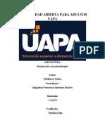 TRABAJO FINAL DE INTRODUCCION A LA PSICOTERAPIA-MIGUELINA SANCHEZ