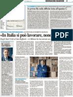 «In Italia si può lavorare, nonostante tutto»