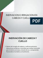 INERVACIÓN E IRRIGACION DE CABEZA Y CUELLOS