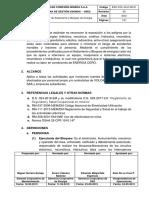 ESO-VOL-GLO-06-01 Estándar de Aislamiento y Bloqueo de Energías