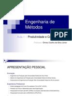 aula 1 - Produtividade e competitividade