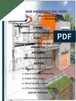 PROESO CONSTRUTIVO DE VIVIENDA UNIFAMILIAR