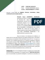 APERSONAMIENTO FISCAL - SAYURI CONTRERAS RODRIGUEZ