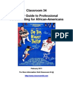 Classroom 34 Career Guide to Professional Screenwriting for African Americans
