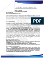Edital de Pregão Presencial Segunda Retificação Srp Nº 67.2020 Contratação Caminhao Compactador