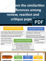 Session 3 (Review Reaction and Critique Paper)