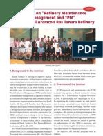 seminar-on-refinery-maintenance-management-and-tpm-held-at-saudi-aramcos-ras-tanura-refinery