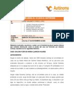 INFORME DEL CASO DE GIULIANA LLAMOJA
