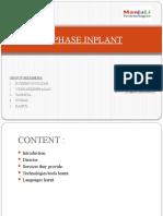 1st PHASE INPLANT Presentation