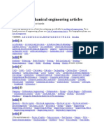 Index of mechanical engineering articles