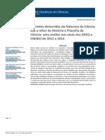 As visões distorcidas da Natureza da Ciência sob o olhar da História e Filosofia da Ciência- uma análise nos anais dos ENEQ e ENEBIO de 2012 e 2014
