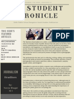The Student Chronicle Senior Edition DPS journel
