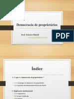 12. Democracia de Proprietários (1)